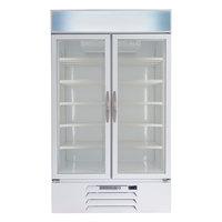 Beverage-Air MMR44HC-1-W MarketMax 47 inch White Two Section Glass Door Merchandiser Refrigerator - 45 cu. ft.