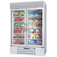 Beverage-Air MMF44-1-W-LED MarketMax 47 inch White Two Section Glass Door Merchandiser Freezer - 45 cu. ft.