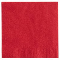 Choice 10 inch x 10 inch Customizable Red 2-Ply Beverage / Cocktail Napkins - 1000/Case