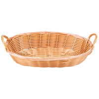 12 inch x 9 inch x 3 inch Oval Wicker Bread Basket