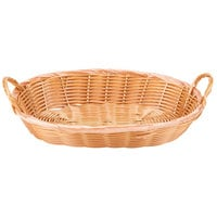 12 inch x 9 inch x 3 inch Polypropylene Wicker Oval Basket