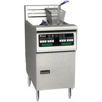 Pitco SELV14T-C/FD Solstice 30 lb. Reduced Oil Volume / High Output Split Pot Electric Fryer with Intellifry Computer Controls and Filter Drawer - 240V, 1 Phase, 17 kW