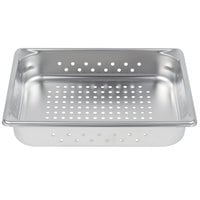 Vollrath 30223 Super Pan V® 1/2 Size Anti-Jam Stainless Steel Perforated Steam Table / Hotel Pan - 2 1/2 inch Deep
