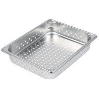 Vollrath 30223 Super Pan V® 1/2 Size 2 1/2 inch Deep Anti-Jam Perforated Stainless Steel Steam Table / Hotel Pan - 22 Gauge