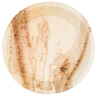 """TreeVive by EcoChoice 8"""" Round Deep Palm Leaf Plate - 100/Case"""