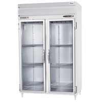 Beverage Air PRD2-1BG-LED 2 Section Glass Door Pass-Through Refrigerator - 50 cu. ft., Stainless Steel