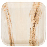 TreeVive by EcoChoice 10 inch Square Palm Leaf Plate - 100/Case