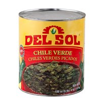 Del Sol Diced Green Chile Peppers #10 Can