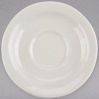 Tuxton TNR-002 Nevada 5 1/2 inch Eggshell Narrow Rim China Saucer - 36/Case