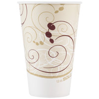Dart Solo RP12NP-J8000 Symphony 12 oz. Poly Paper Cold Cup - 100/Pack