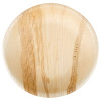 """TreeVive by EcoChoice 7"""" Round Palm Leaf Plate - 100/Case"""