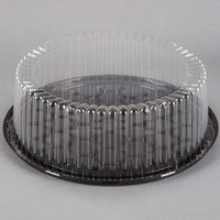 D&W Fine Pack G33-1 10 inch 1-2 Layer Cake Display Container with Clear Dome Lid - 10/Pack