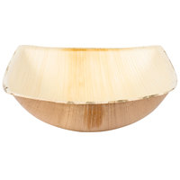 "TreeVive by EcoChoice 12 oz. 5 1/2"" Square Coupe Palm Leaf Bowl   - 100/Case"