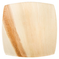 """TreeVive by EcoChoice 6"""" Square Coupe Palm Leaf Plate - 100/Case"""