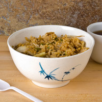 Thunder Group 5206BB Blue Bamboo 25 oz. Round Melamine Rice Bowl - 12/Case