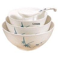 Blue Bamboo Melamine 25 oz. Rice Bowl – 5 7/8 inch 12 / Pack