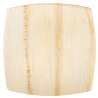 """TreeVive by EcoChoice 8"""" Square Coupe Palm Leaf Plate - 100/Case"""