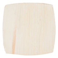 TreeVive by EcoChoice 4 inch Square Coupe Palm Leaf Plate   - 100/Case