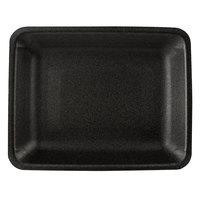 CKF 87853 (#4PR) Black Foam Meat Tray 9 1/4 inch x 7 1/4 inch x 1 1/4 inch - 500/Case