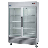 Arctic Air AGR49 54 inch Two Section Glass Door Reach-In Refrigerator - 49 cu. ft.