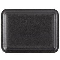 Genpak 1020S (#20S) Foam Meat Tray Black 8 1/2 inch x 6 1/2 inch x 1/2 inch   - 500/Case