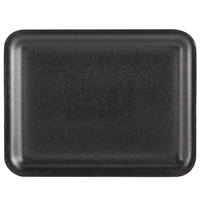 Genpak 1020S (#20S) Black 8 1/2 inch x 6 1/2 inch x 1/2 inch Foam Supermarket Tray - 500/Case