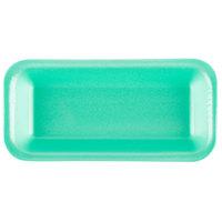 Genpak 111.5 (#1.5) Foam Meat Tray Green 8 3/8 inch x 3 7/8 inch x 1 inch - 500/Case