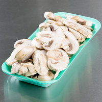 Genpak 111.5 (#1.5) Green Foam Meat Tray 8 3/8 inch x 3 7/8 inch x 7/8 inch - 500/Case
