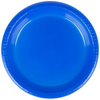 Creative Converting 28314721 9 inch Cobalt Blue Plastic Plate - 20/Pack
