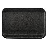 CKF 87803 (#2S) Black Foam Meat Tray 8 1/4 inch x 5 3/4 inch x 1/2 inch - 500/Case