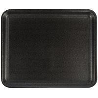 CKF 87812 (#12S) Black Foam Meat Tray 11 inch x 9 inch x 1/2 inch - 250/Case