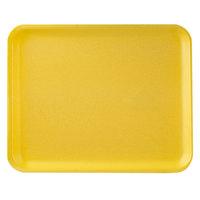 CKF 87936 (#38/8S) Yellow Foam Meat Tray 10 inch x 8 inch x 1/2 inch - 500/Case