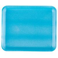 Genpak 1012S (#12S) Foam Meat Tray Blue 11 1/4 inch x 9 1/4 inch x 1/2 inch - 250/Case