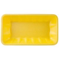 CKF 87941 (#10K) Yellow Foam Meat Tray 10 3/8 inch x 5 5/8 inch x 2 inch - 250/Case