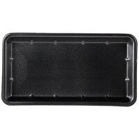 Genpak 1025S (#25S) Foam Meat Tray Black 8 inch x 14 3/4 inch x 1 1/16 inch   - 250/Case