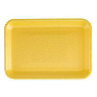 CKF 87903 (#2S) Yellow Foam Meat Tray 8 1/4 inch x 5 3/4 inch x 1/2 inch - 500/Case