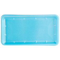 Genpak 1025S (#25S) Foam Meat Tray Blue 8 inch x 14 3/4 inch x 1 1/16 inch - 250/Case