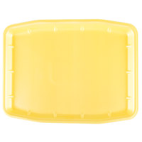 Genpak 11216 (#12X16) Yellow 12 inch x 15 3/4 inch x 3/4 inch Foam Supermarket Tray - 100/Case