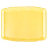 Genpak 11216 (#12X16) Foam Meat Tray Yellow 12 inch x 15 3/4 inch x 3/4 inch - 100/Case