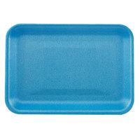 CKF 88003 (#2S) Blue Foam Meat Tray 8 1/4 inch x 5 3/4 inch x 1/2 inch - 500/Case