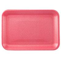 CKF 88062 (#2S) Rose Foam Meat Tray 8 1/4 inch x 5 3/4 inch x 1/2 inch - 500/Case
