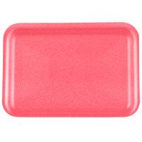 Genpak 1002S (#2S) Foam Meat Tray Rose 8 1/4 inch x 5 3/4 inch x 1/2 inch - 500/Case