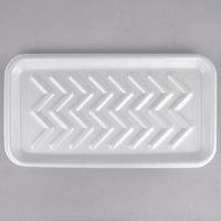 CKF 88125 (#25S) White Foam Meat Tray 15 inch x 8 inch x 5/8 inch - 250/Case