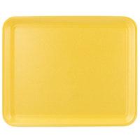 CKF 87912 (#12S) Yellow Foam Meat Tray 11 inch x 9 inch x 1/2 inch - 250/Case