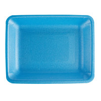 CKF 88051 (#4PR) Blue Foam Meat Tray 9 1/4 inch x 7 1/4 inch x 1 1/4 inch - 500/Case