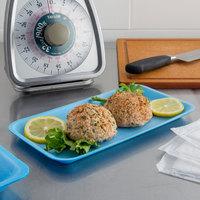 CKF 88010 (#10S) Blue Foam Meat Tray 10 3/4 inch x 5 3/4 inch x 1/2 inch - 500/Case