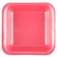 Genpak 1001 (#1) Foam Meat Tray Rose 5 1/4 inch x 5 1/4 inch x 1 inch - 1000/Case
