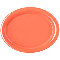 Carlisle 4308052 Durus 13 1/2 inch Sunset Orange Oval Melamine Platter - 12/Case