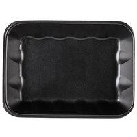 Genpak 1020K (#20K) Foam Meat Tray Black 11 7/8 inch x 8 3/4 inch x 2 7/16 inch - 100/Case