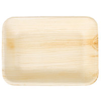 TreeVive by EcoChoice 6 inch x 5 inch Rectangular Palm Leaf Plate - 25/Pack